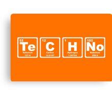 Techno - Periodic Table Canvas Print