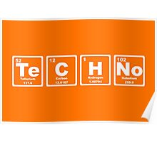 Techno - Periodic Table Poster
