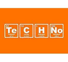 Techno - Periodic Table Photographic Print