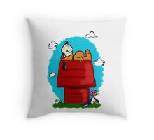 Duck Hunt\Snoopy Throw Pillow