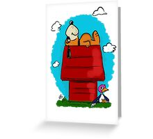 Duck Hunt\Snoopy Greeting Card