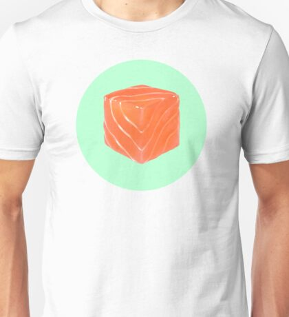 Salmon Cube Unisex T-Shirt