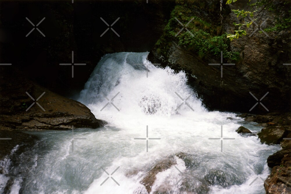 Reichbach Falls - the top by georgiegirl