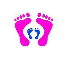 footprints Photographic Print