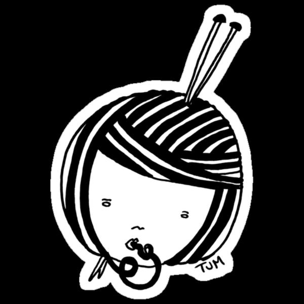 knitgal (B&W) by tambatoys