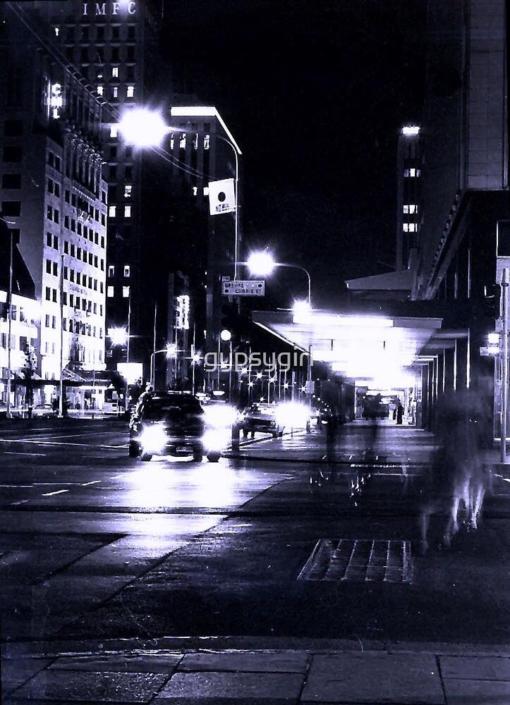City Street in Blue by gypsygirl