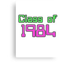 Class of 1984 Canvas Print