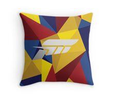 Forza polygon Throw Pillow