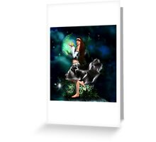 Moon Dance (part 2) Greeting Card