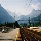 Kandersteg Train Station by georgiegirl