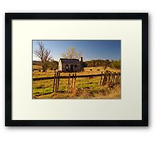 Fences Need Mending Framed Print