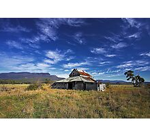 Western Creek Barn Photographic Print