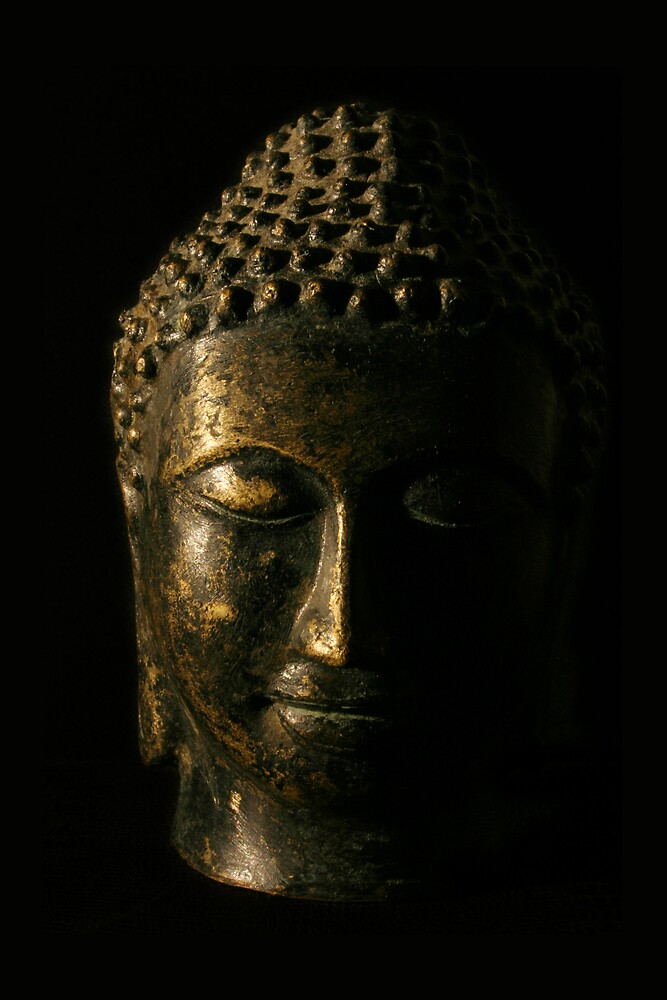Buddha Bronze Sculpture - Tryptic Centre by gematrium