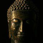 Buddha Bronze Sculpture - Tryptic Centre by gematrium