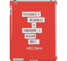 Yesterday's weirdness iPad Case/Skin