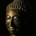 Buddha Bronze Sculpture - Tryptic Right by gematrium
