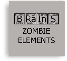 Brains Zombie Elements Canvas Print