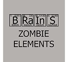 Brains Zombie Elements Photographic Print