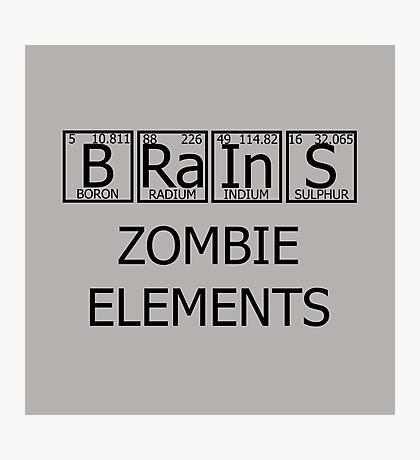 Brains Zombie Elements Photographic Print