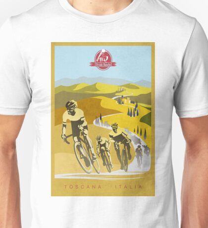 Strade Bianche Retro Cycling Art Unisex T-Shirt