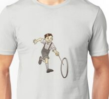 Retro Kid Playing Unisex T-Shirt