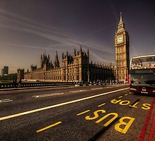 Westminster Bus Stop  by Rob Hawkins