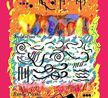 Mozart Piano Concerto No. 9 - Bauhaus Kandinsky Art Work by DarkVotum