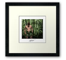 Adam Trying on His New Clothes Framed Print