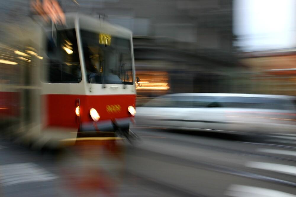 Prague Tram by gematrium