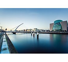 Samuel Beckett Bridge, Dublin, Ireland Photographic Print