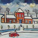 Royal mail snowscene (from my original acrylic painting ) by sword