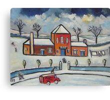 Royal mail snowscene (from my original acrylic painting ) Canvas Print
