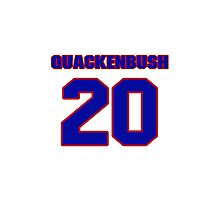 National Hockey player Max Quackenbush jersey 20 Photographic Print
