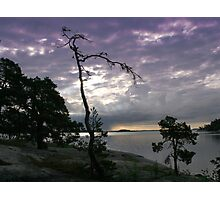 Rock island in the Baltic sea (SWEDEN) Photographic Print