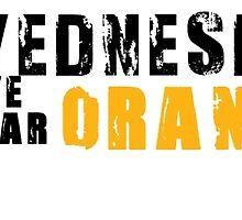 On wednesdays we wear orange by pepitapasteles