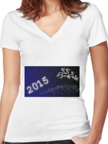 Happy New Year 2015 Women's Fitted V-Neck T-Shirt