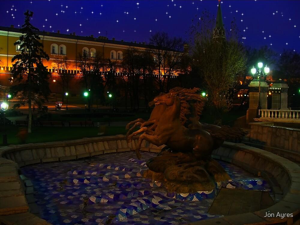 Stallion Fountain in Alexander's Garden close to the Manezh by Jon Ayres