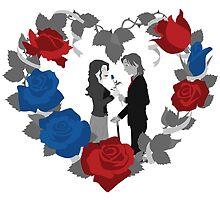 RxB B&W Roses by AdrianaC