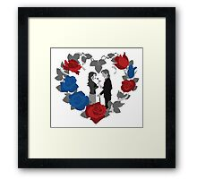 RxB B&W Roses Framed Print