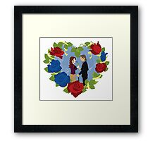 RxB Color Roses Framed Print