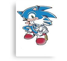 Sonic the Athlete Canvas Print