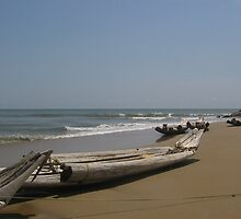 Catamarans in Kovalam Beach by Manoj Karuppannan