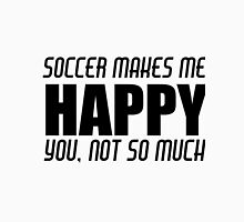 SOCCER MAKES ME HAPPY Men's Baseball ¾ T-Shirt
