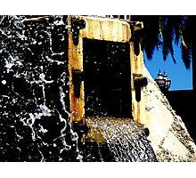 Water vs. Concrete Photographic Print