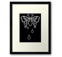 When beauty bleeds Framed Print