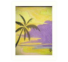 Streamline Paradise Art Print