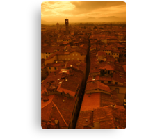 The roofs of Lucca Canvas Print