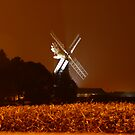 Skidby Mill at Night by Wrigglefish