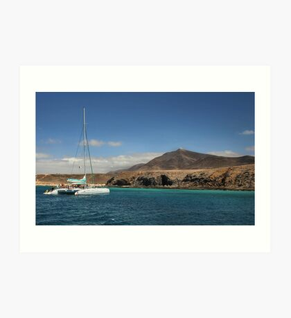 Papagaya Beach Heads - Lanzarote Art Print