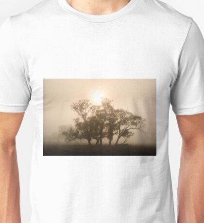 On fire in the fog - Tongala, Victoria, Australia Unisex T-Shirt